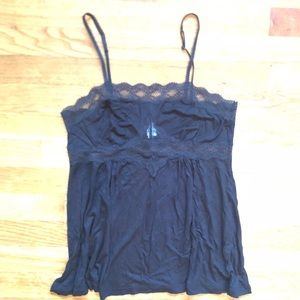 Eberjey tank with lace trim